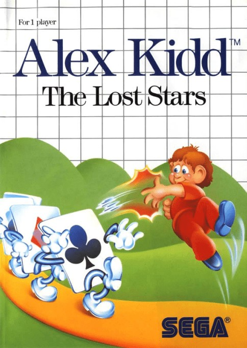 Front boxart of the game Alex Kidd - The Lost Stars (United States) on Sega Master System