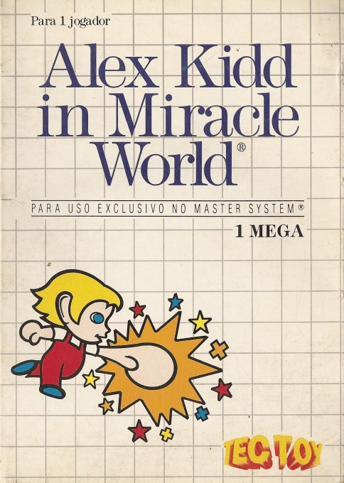 Front boxart of the game Alex Kidd in Miracle World (Brazil) on Sega Master System