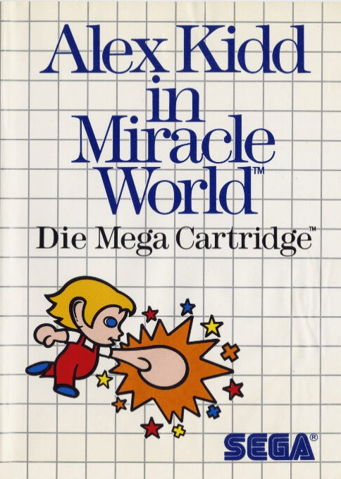 Front boxart of the game Alex Kidd in Miracle World (Germany) on Sega Master System