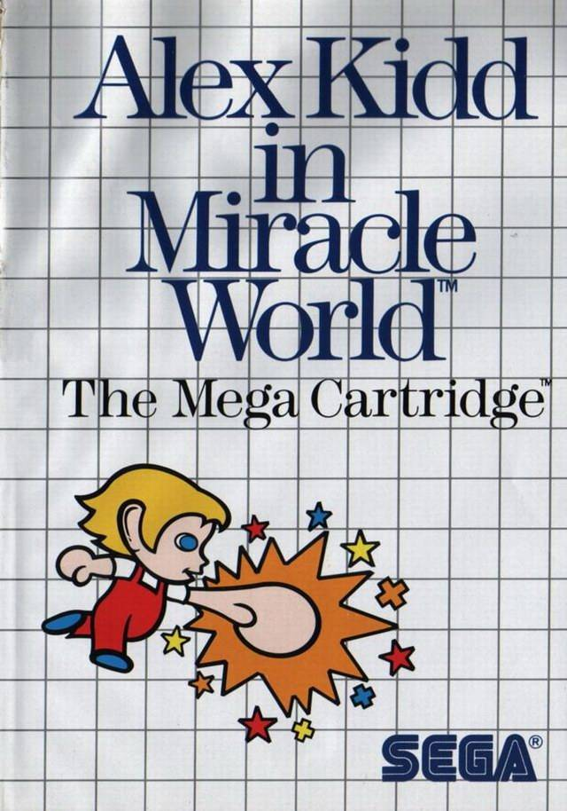 Front boxart of the game Alex Kidd in Miracle World (Europe) on Sega Master System