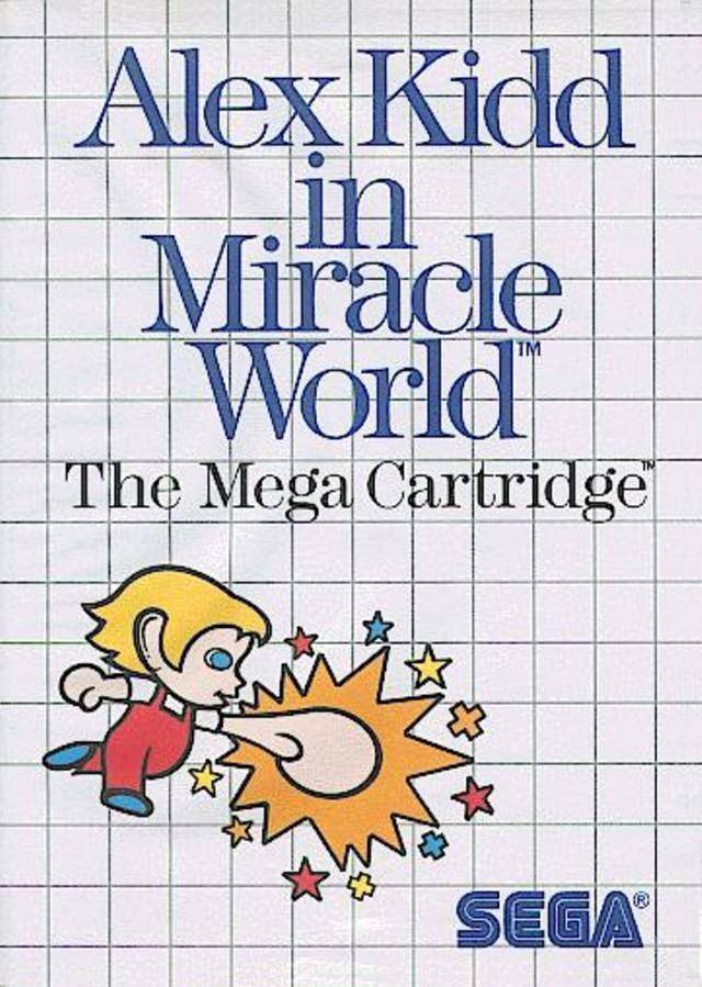 Front boxart of the game Alex Kidd in Miracle World (United States) on Sega Master System
