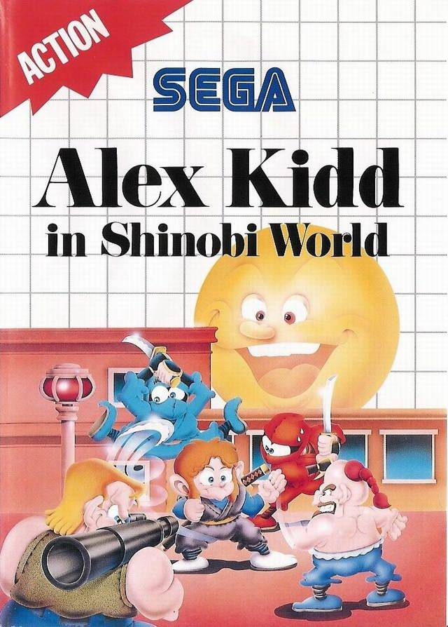 Front boxart of the game Alex Kidd in Shinobi World (Europe) on Sega Master System
