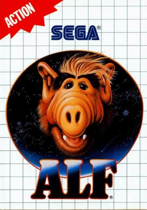 Front boxart of the game ALF (United States) on Sega Master System