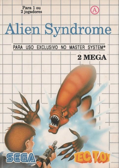 Front boxart of the game Alien Syndrome (Brazil) on Sega Master System