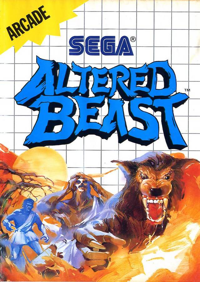 Front boxart of the game Altered Beast (Europe) on Sega Master System