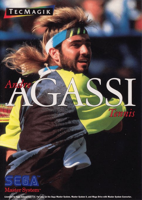 Front boxart of the game Andre Agassi Tennis (Europe) on Sega Master System