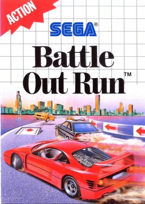 Front boxart of the game Battle Out Run (Europe) on Sega Master System