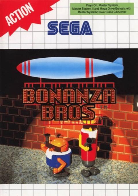 Front boxart of the game Bonanza Bros (Europe) on Sega Master System