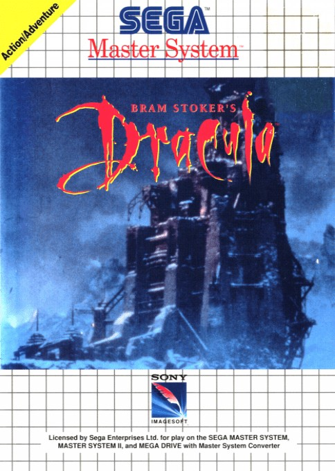 Front boxart of the game Bram Stoker's Dracula (Europe) on Sega Master System