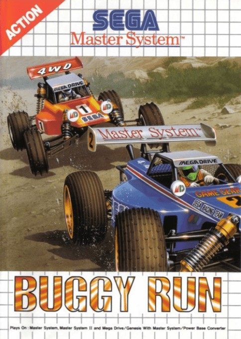Front boxart of the game Buggy Run (Europe) on Sega Master System