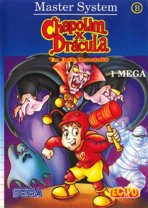 Front boxart of the game Chapolim x Dracula - Um Duelo Assustador (Brazil) on Sega Master System