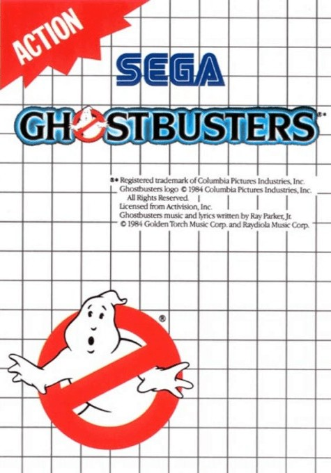 Front boxart of the game Ghostbusters (Europe) on Sega Master System