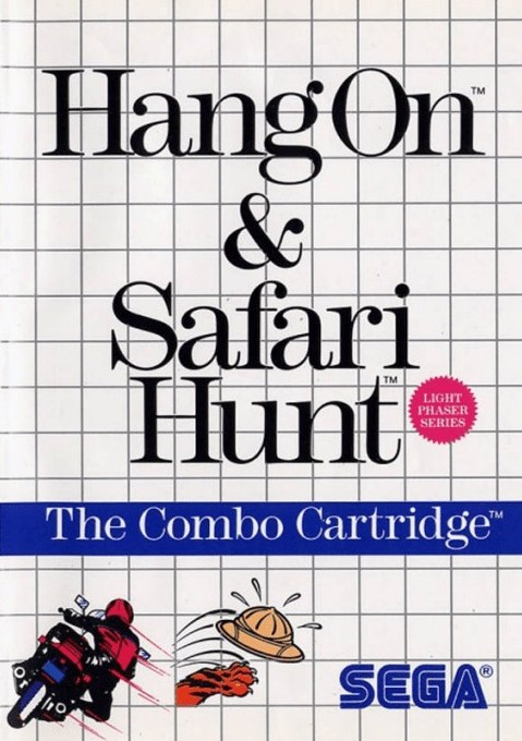 Front boxart of the game Hang-On & Safari Hunt (United States) on Sega Master System