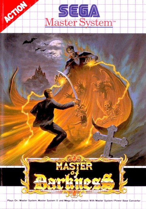 Front boxart of the game Master of Darkness (Europe) on Sega Master System