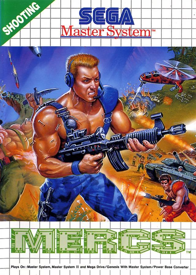 Front boxart of the game Mercs (Europe) on Sega Master System