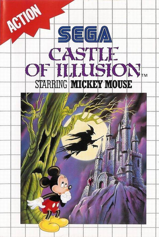 Front boxart of the game Castle of Illusion Starring Mickey Mouse (Europe) on Sega Master System