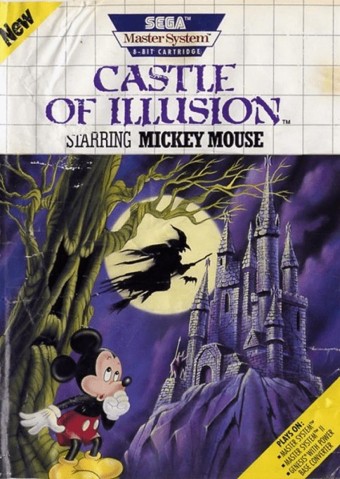 Front boxart of the game Castle of Illusion Starring Mickey Mouse (United States) on Sega Master System