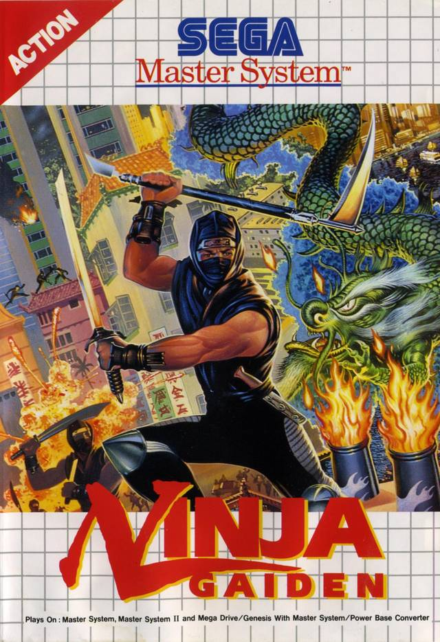 Front boxart of the game Ninja Gaiden (Europe) on Sega Master System