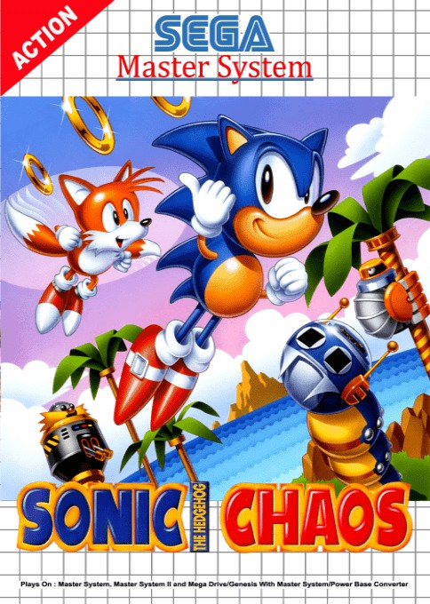 Sonic Chaos boxarts for Sega Master System - The Video Games Museum