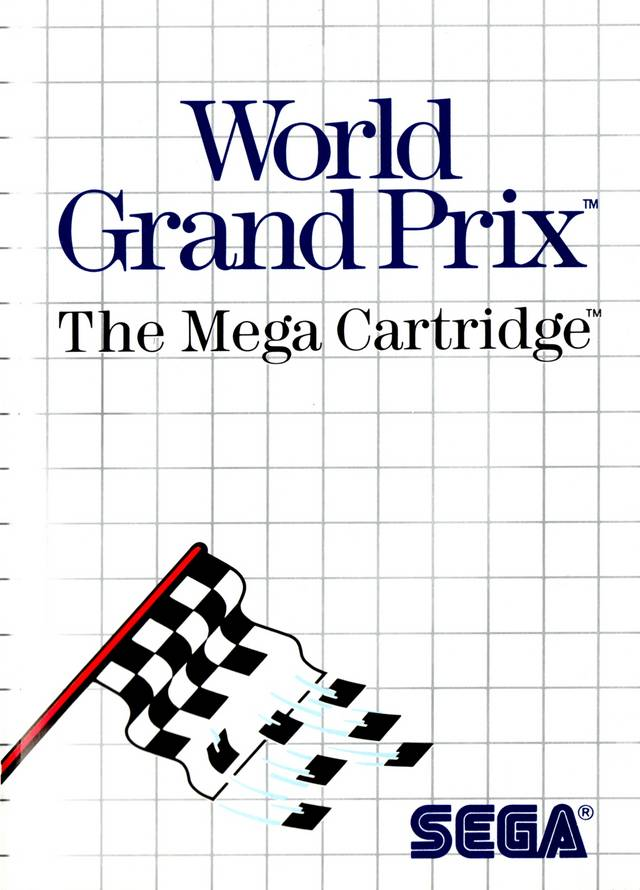 Front boxart of the game World Grand Prix (United States) on Sega Master System