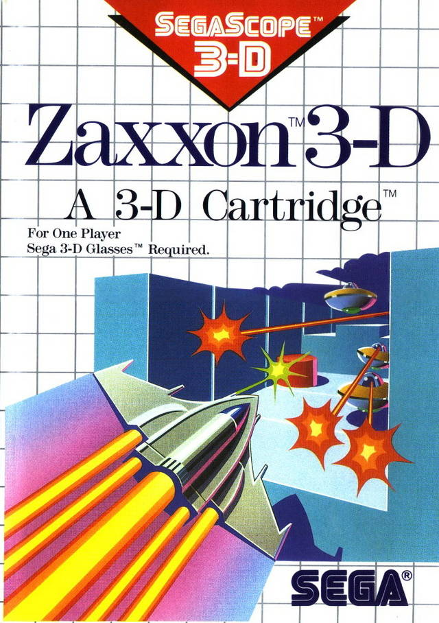 Front boxart of the game Zaxxon 3D (Europe) on Sega Master System