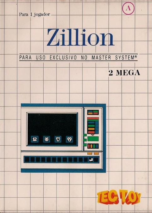 Front boxart of the game Akai Koudan Zillion (Brazil) on Sega Master System