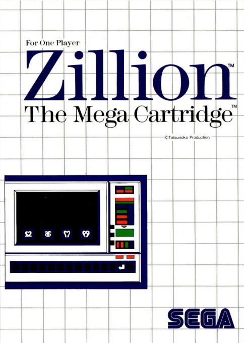 Front boxart of the game Akai Koudan Zillion (Europe) on Sega Master System