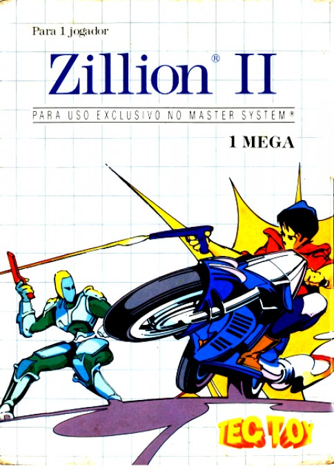 Front boxart of the game Zillion II - The Tri Formation (Brazil) on Sega Master System