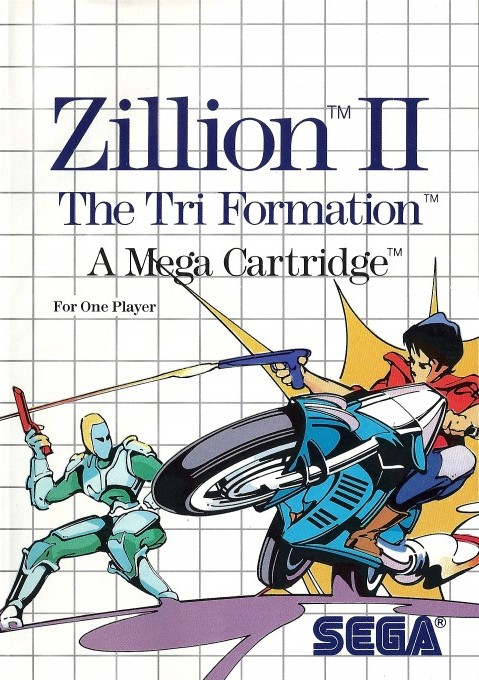 Front boxart of the game Zillion II - The Tri Formation (United States) on Sega Master System