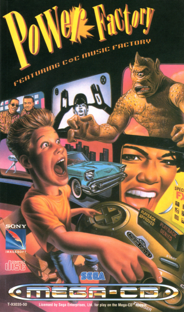 Front boxart of the game Power Factory Featuring C+C Music Factory (Europe) on Sega Mega CD