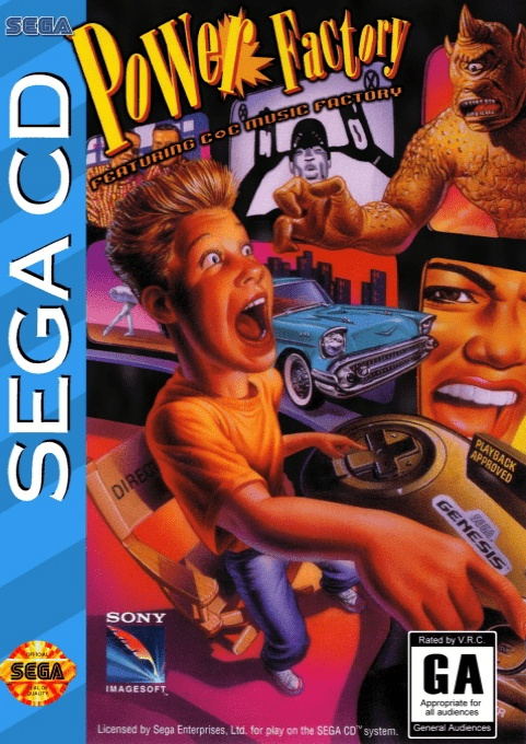 Front boxart of the game Power Factory Featuring C+C Music Factory (United States) on Sega Mega CD
