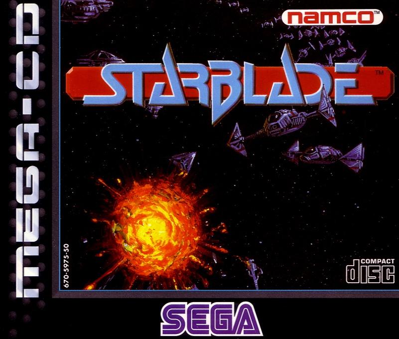 Front boxart of the game Starblade (Europe) on Sega Mega CD