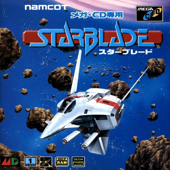 Front boxart of the game Starblade (Japan) on Sega Mega CD