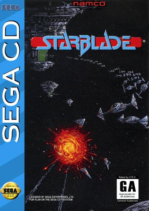 Front boxart of the game Starblade (United States) on Sega Mega CD