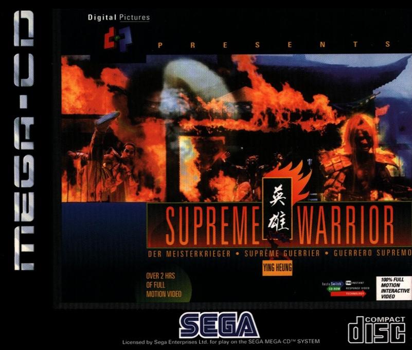 Front boxart of the game Supreme Warrior (Europe) on Sega Mega CD