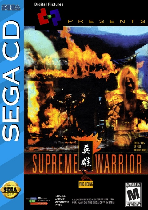 Front boxart of the game Supreme Warrior (United States) on Sega Mega CD