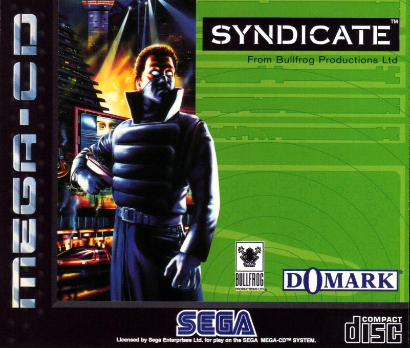 Front boxart of the game Syndicate (Europe) on Sega Mega CD