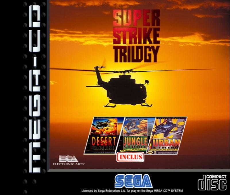 Front boxart of the game Super Strike Trilogy (Europe) on Sega Mega CD