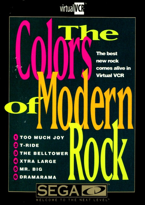 Front boxart of the game The Colors of Modern Rock (United States) on Sega Mega CD