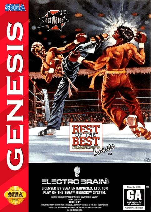 Front boxart of the game Kick Boxing, The (United States) on Sega Megadrive