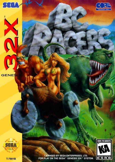 Front boxart of the game BC Racers (United States) on Sega Megadrive