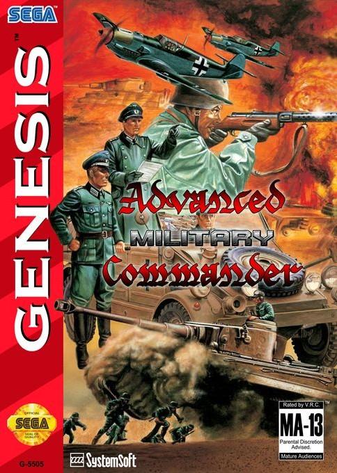 Front boxart of the game Advanced Daisenryaku (United States) on Sega Megadrive