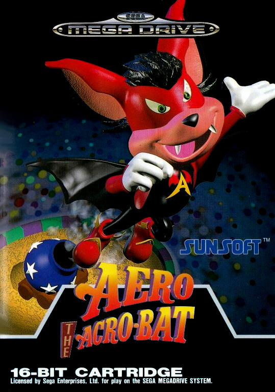 Front boxart of the game Aero the Acro-Bat (Europe) on Sega Megadrive