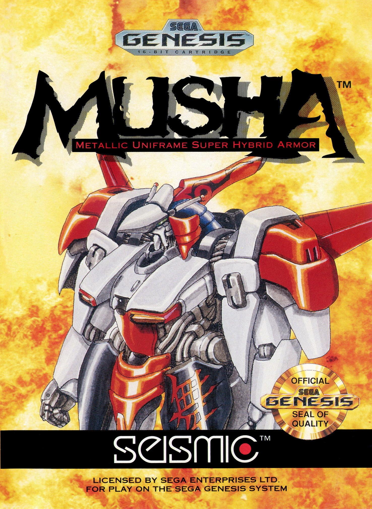 Front boxart of the game Musha Aleste - Full Metal Fighter Ellinor (United States) on Sega Megadrive