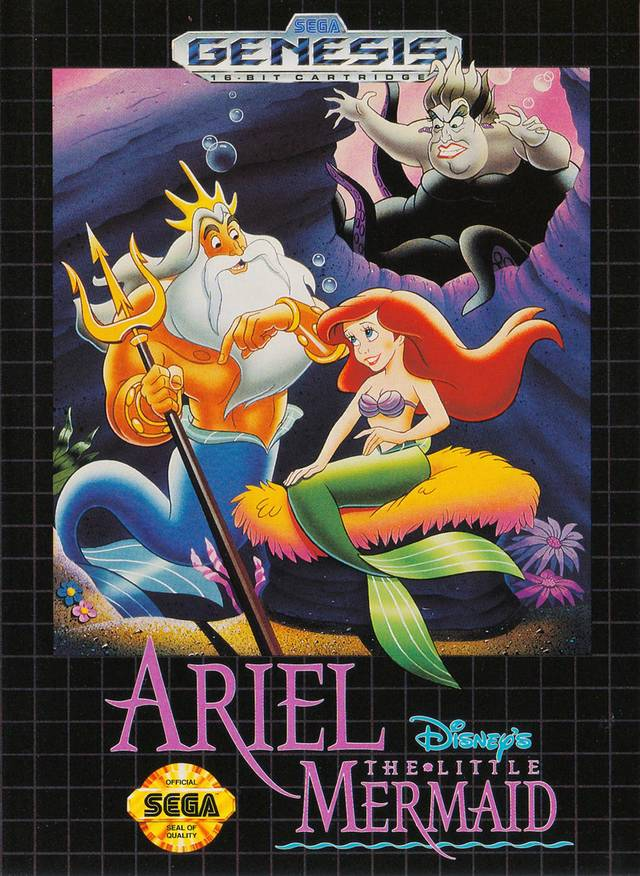 Front boxart of the game Ariel - The Little Mermaid (United States) on Sega Megadrive