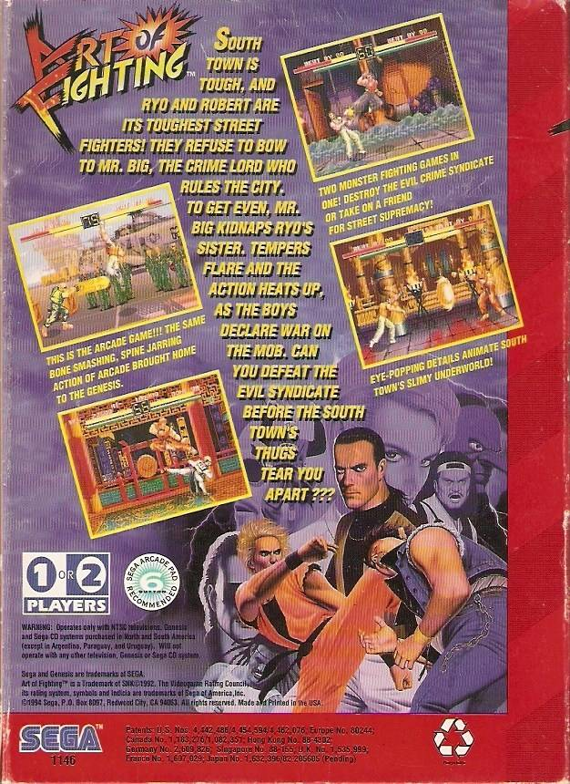 Art Of Fighting Boxarts For Sega Megadrive The Video Games Museum