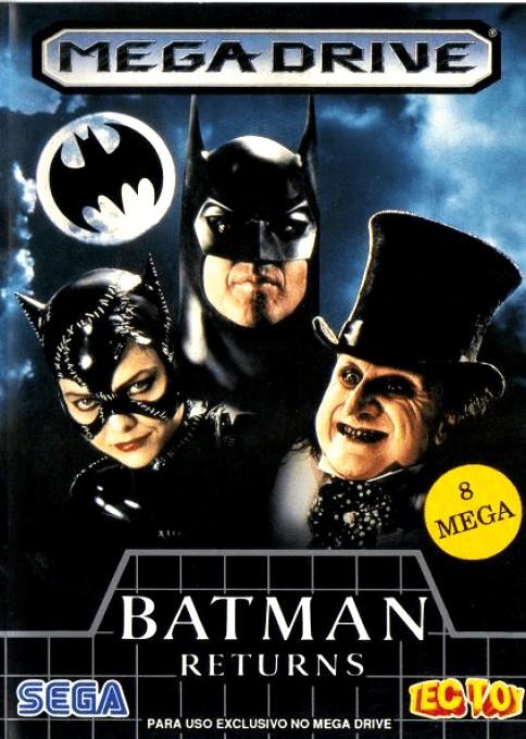 Front boxart of the game Batman Returns (Brazil) on Sega Megadrive