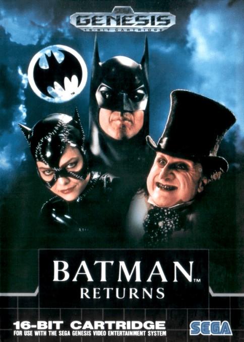 Front boxart of the game Batman Returns (Canada) on Sega Megadrive