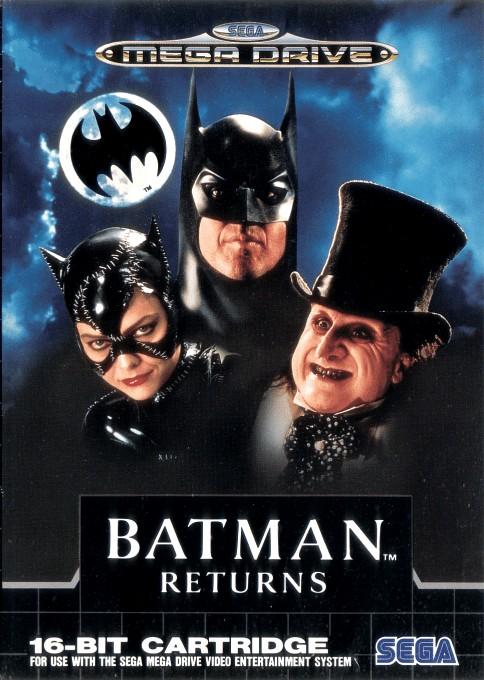 Front boxart of the game Batman Returns (Europe) on Sega Megadrive