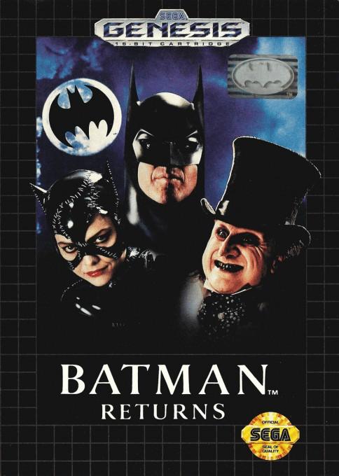 Front boxart of the game Batman Returns (United States) on Sega Megadrive